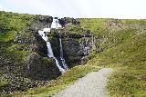 Rjukandafoss_015_08102021 - Looking ahead towards the end of the trail at the base of the main drop of Rjukandafoss