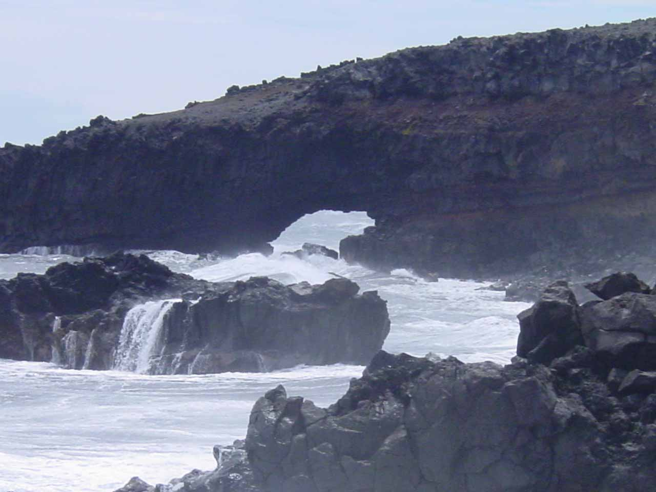 Closer look at Pokowai Sea Arch