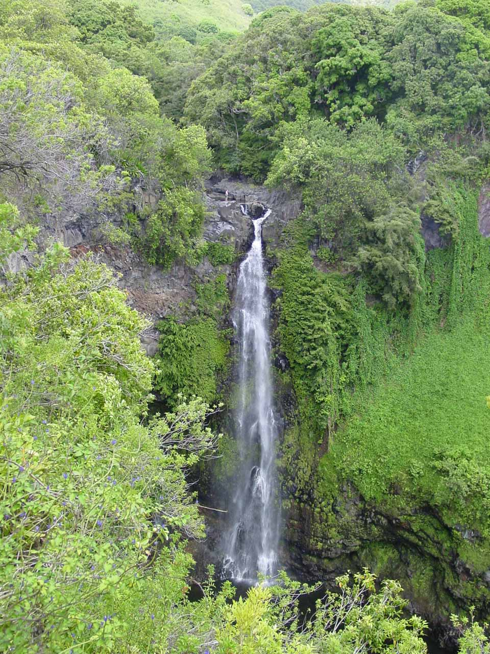 Makahiku Falls in moderate flow