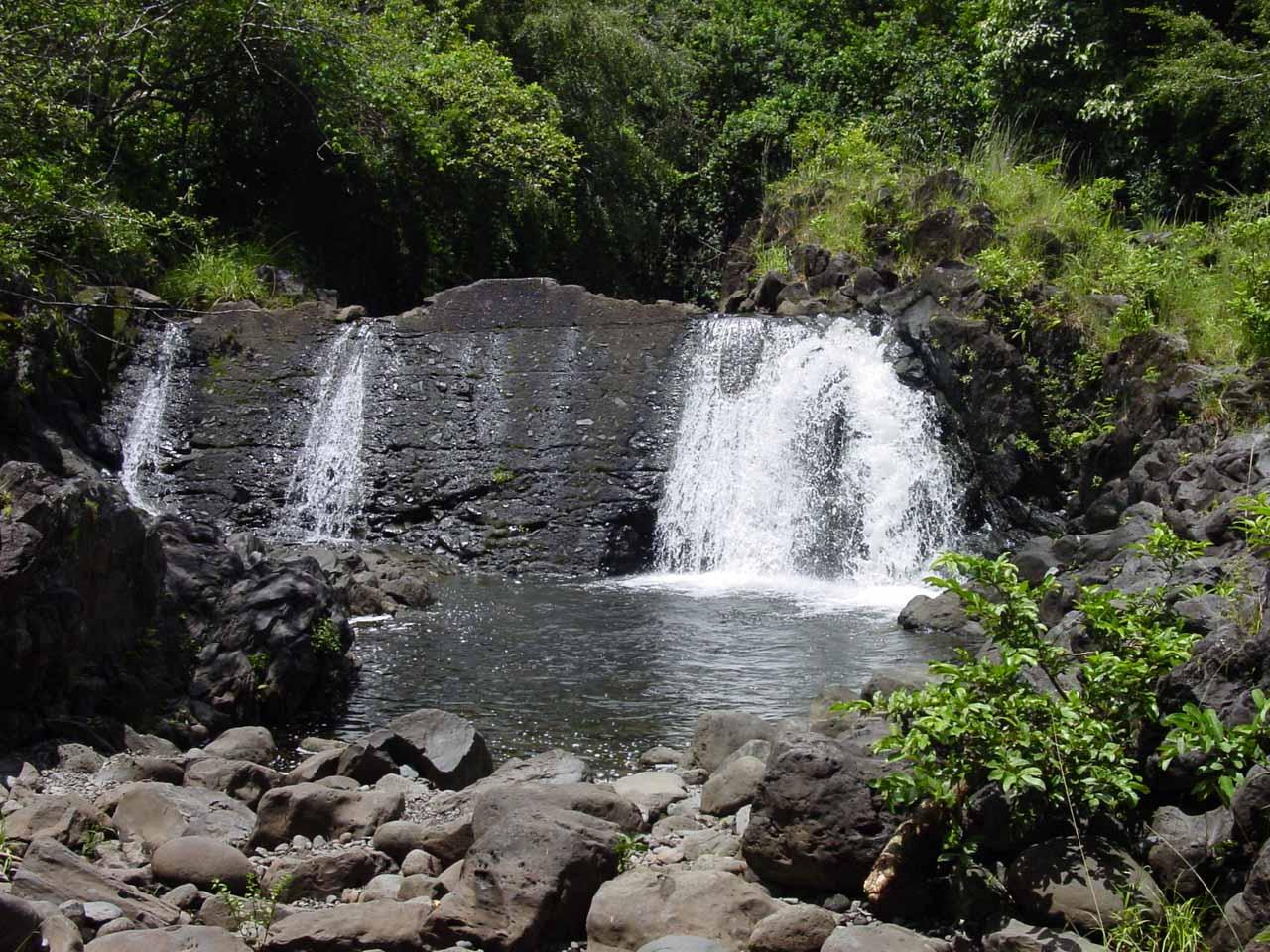 Unknown man-modified waterfall