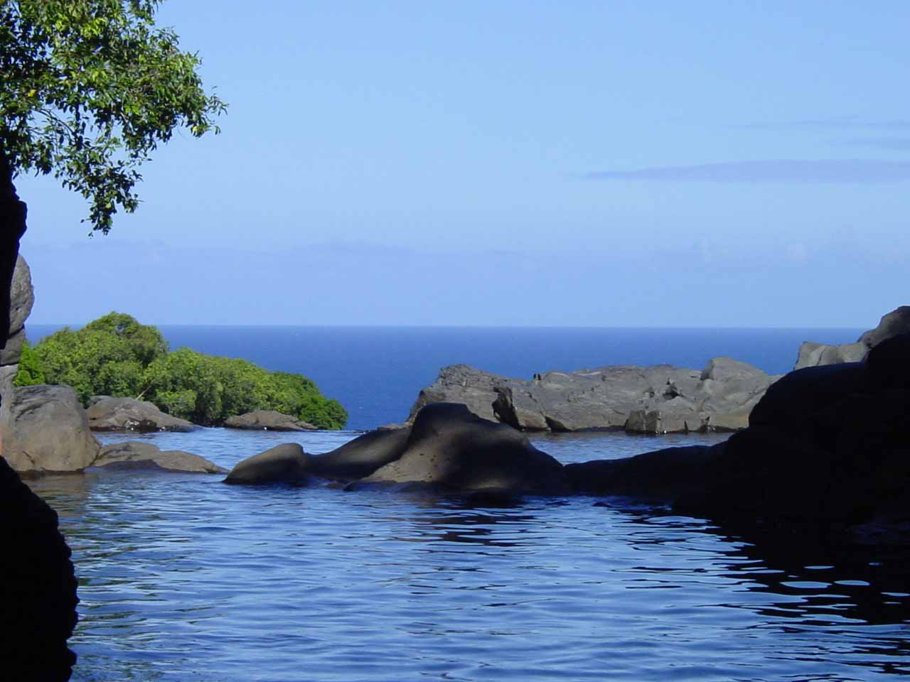 The so-called Infiniti Pool above Makahiku Falls