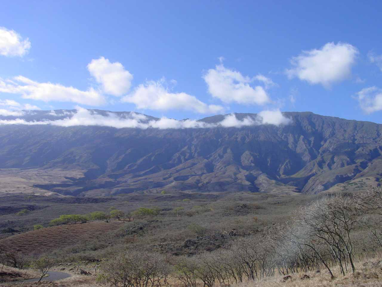 The windswept side of Haleakala