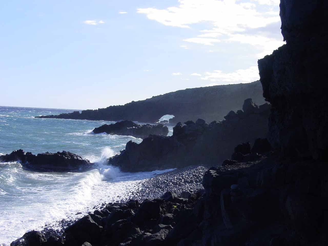 Pokowai Sea Arch again