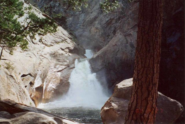 Roaring_River_Falls_001_scanned_04272002 - Roaring River Falls in high Spring flow when we first saw it in April 2002