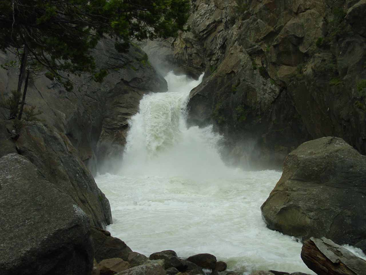 Roaring River Falls gushing in high flow