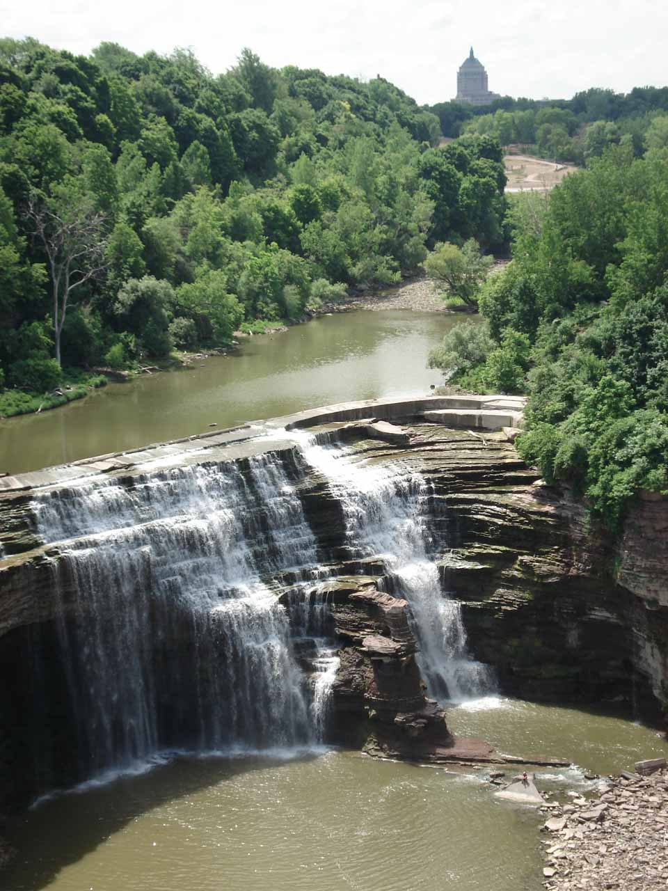 The Lower Falls of the Genesee River in Rochester, NY