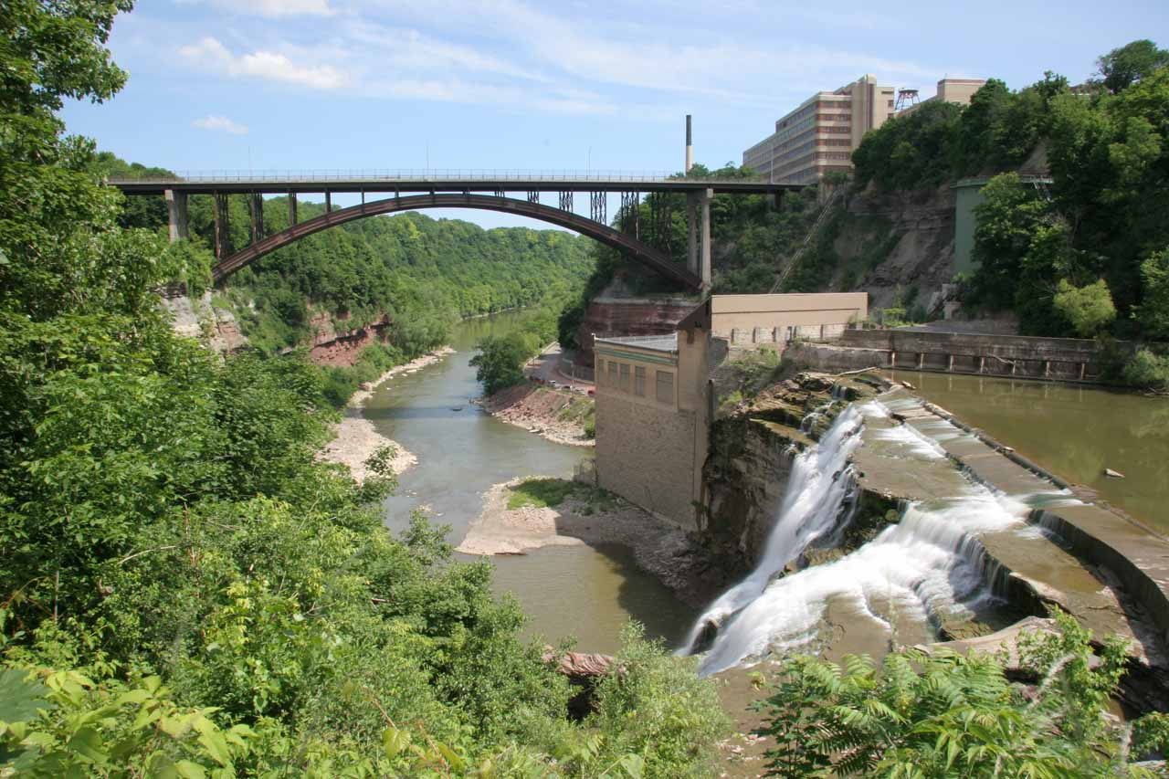 The Lower Falls of the Genesee River in Rochester