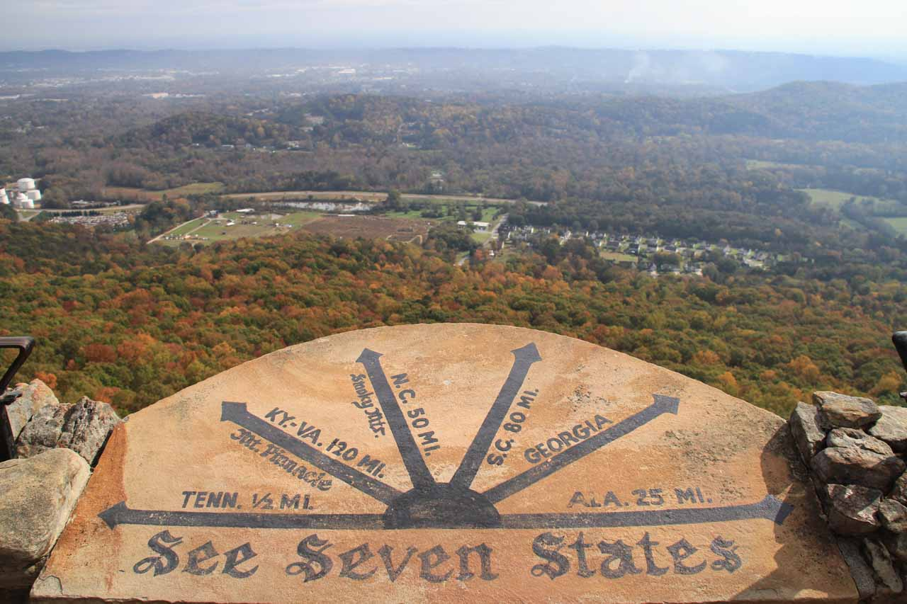 You can see seven states from here?