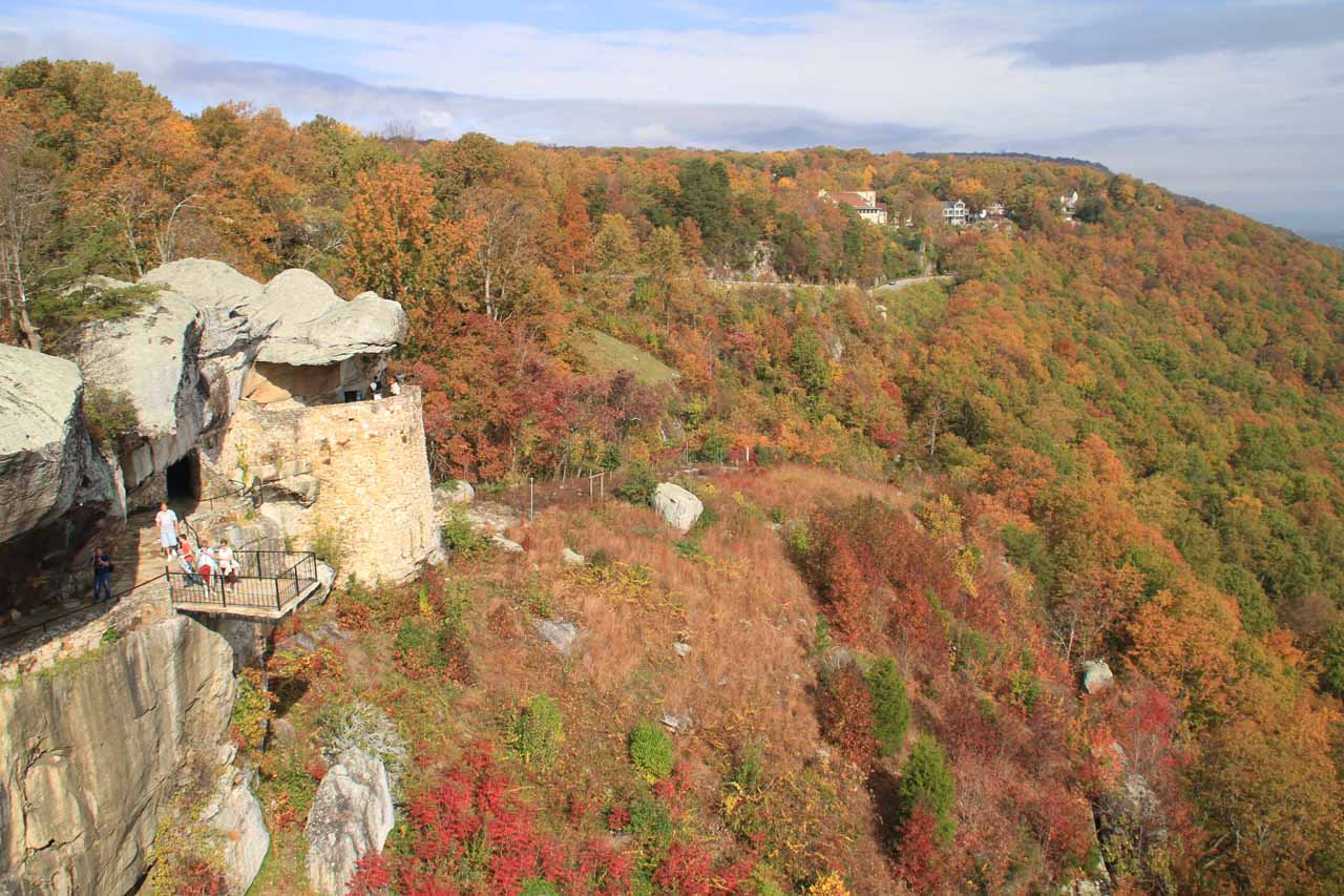 I think High Falls and Rock City was really more about the views, which were sublime at the peak of Fall Colors as you can see here