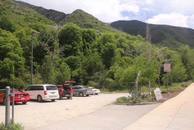 Rocky_Mouth_Falls_004_05262017 - The trailhead parking for the Rocky Mouth Falls at the address 11250 S Wasatch Blvd in Sandy, UT