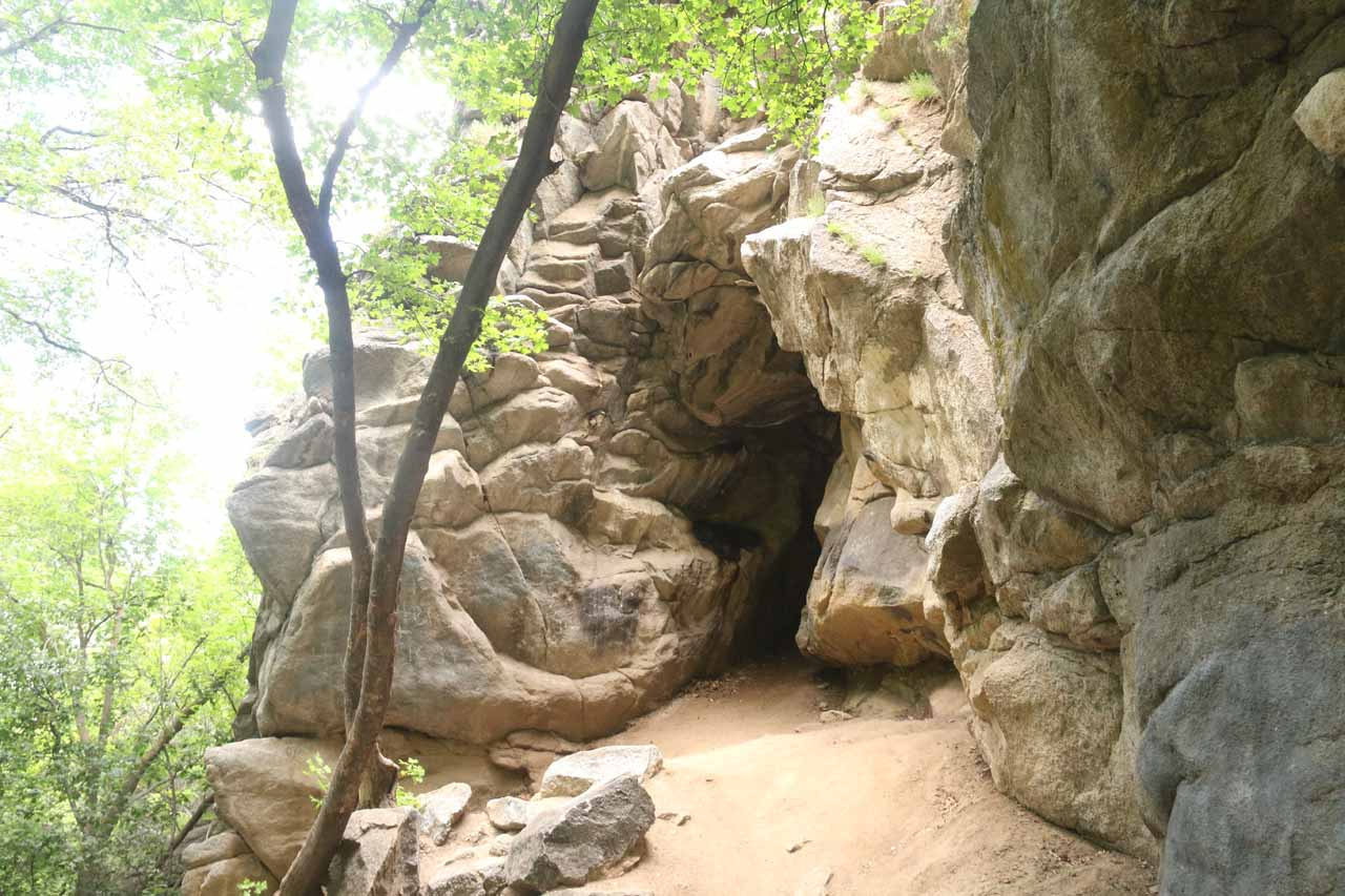 This was one of the 'caves' that we saw alongside the Rocky Mouth Trail