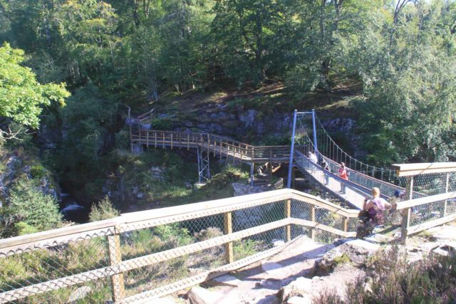 Rogie_Falls_020_08272014 - Approaching the suspension bridge over the Black Water River fronting the Rogie Falls