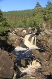 Rogie_Falls_035_08272014 - Direct view of Rogie Falls from the suspension bridge
