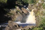 Rogie_Falls_070_08272014 - Partial side view of Rogie Falls from the far side of the suspension bridge