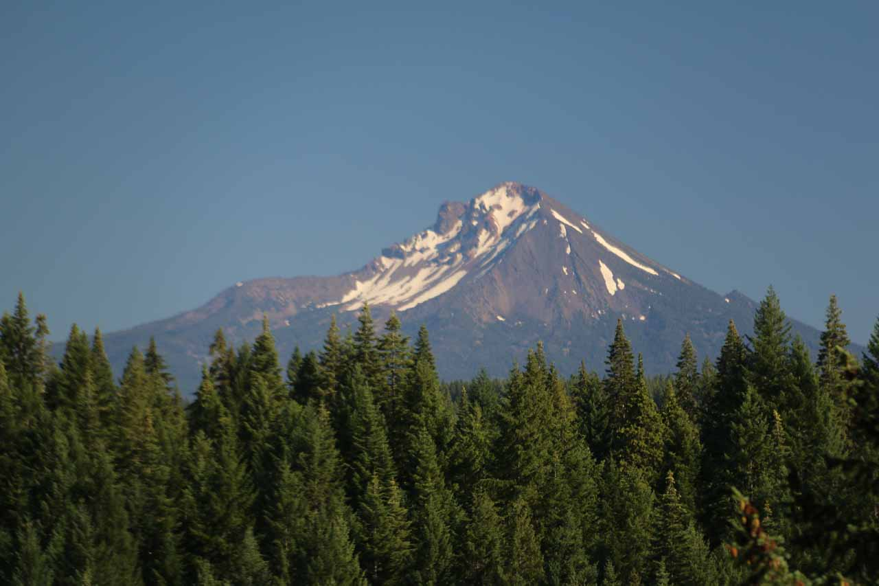 A prominent feature of Prospect State Park was this view of Mt McLoughlin, which we managed to catch a glimpse of further down Mill Creek Drive at a bridge crossing the Rogue River