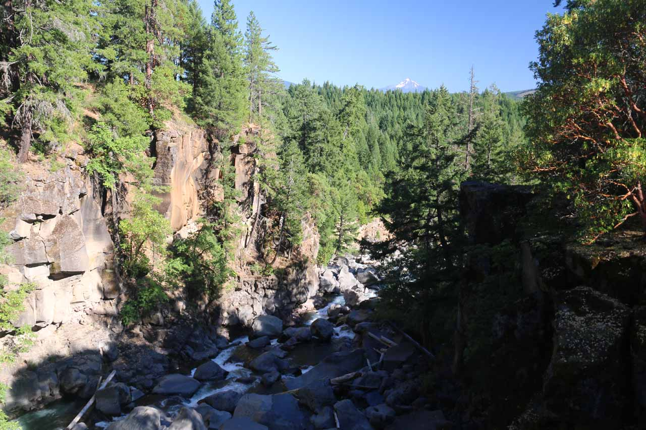 Looking downstream from the bridge over the Avenue of the Boulders