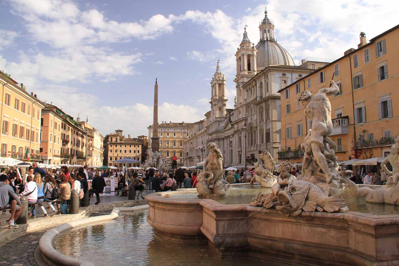 The city of Rome (Roma) was about a couple hours drive to the southwest of Terni and the Cascata delle Marmore. While I think it mad to drive in Rome, it's possible to hire a car on its outskirts