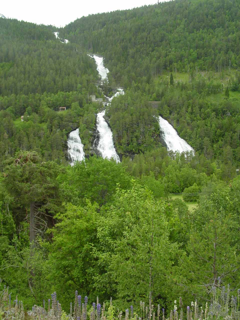 This interestingly-shaped waterfall was Vermafossen