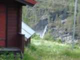 Romsdalen_002_jx_07022005 - When we made a U-turn onto a pullout near someone's red house, we then noticed this waterfall below that turned out to be Kleivafossen during our 2005 trip to Norway