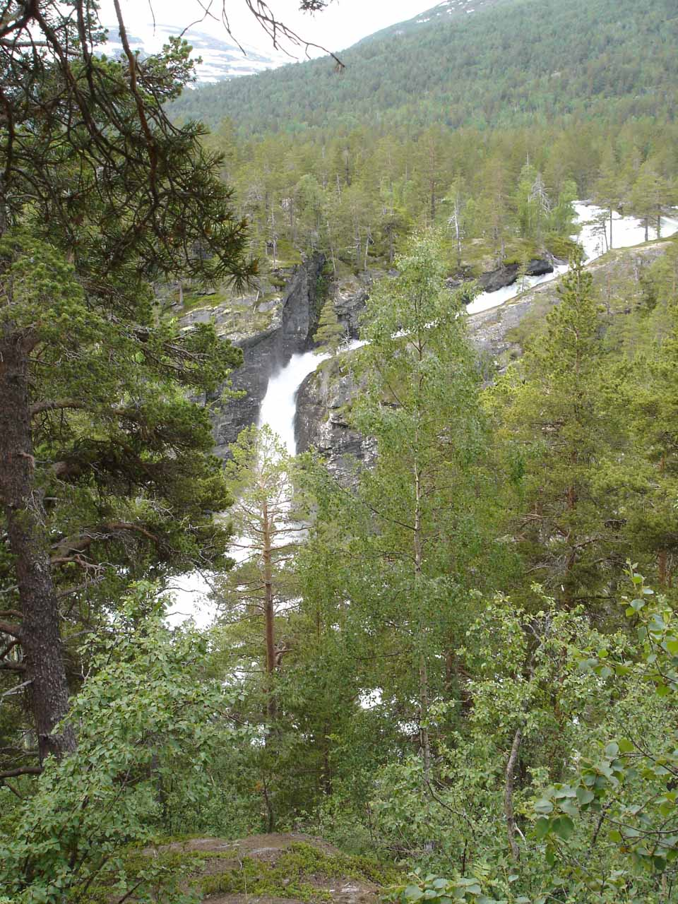 This view of Kleivafossen shows that there were more slides and cascades further upstream before the Ulvåa Stream crashed into the Rauma River