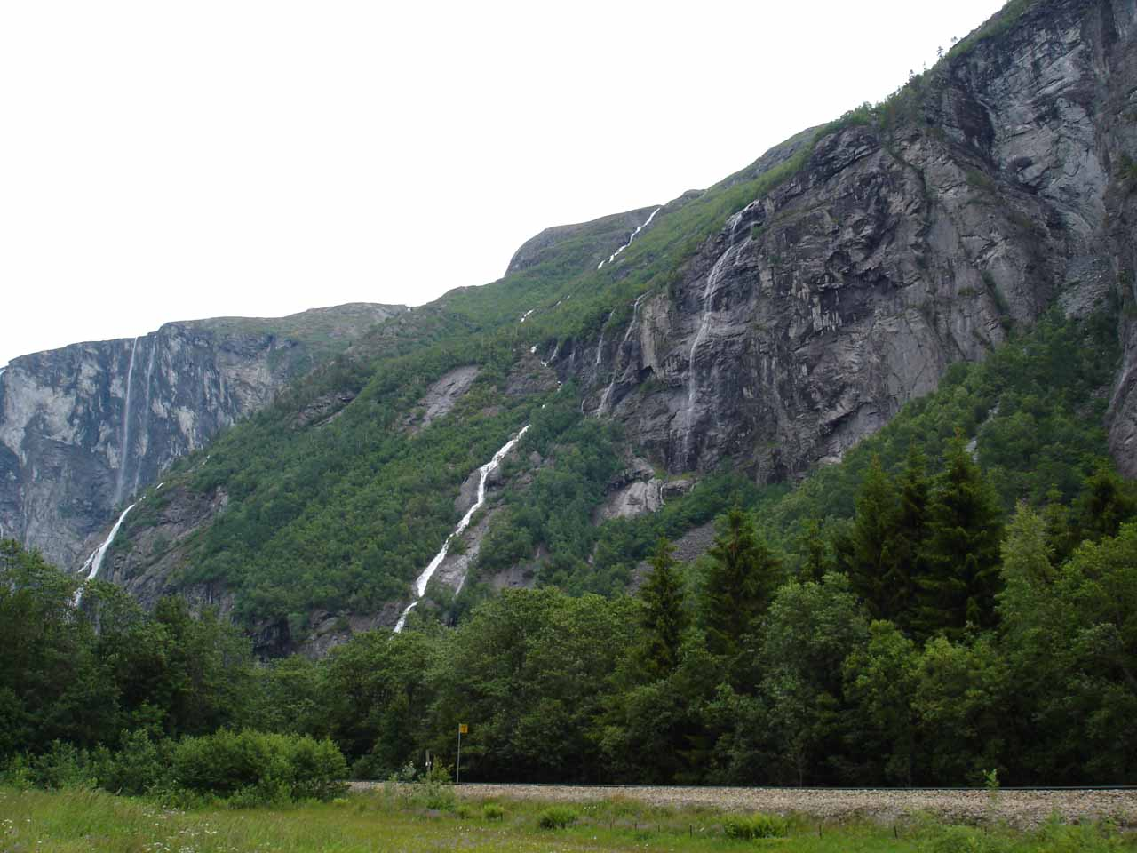 After checking out Døntefossen, we looked across the E136 towards these waterfalls (one of which was Gravdefossen) so we pursued them