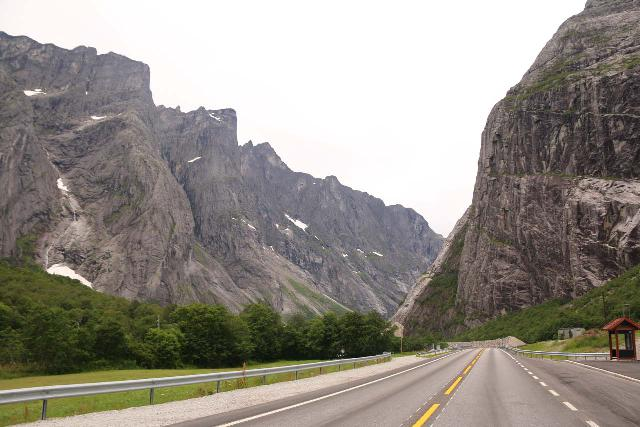 Romsdalen_272_07162019 - Driving north on the E136 towards the sheer Trollveggen and Trolltindane