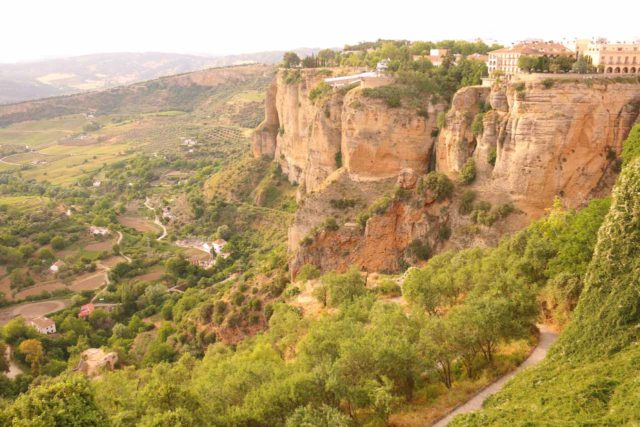 Ronda_027_05232015 - Looking across the Tajo Gorge towards the New Town portion of Ronda perched atop rugged cliffs in a nearly impossibly scenic location