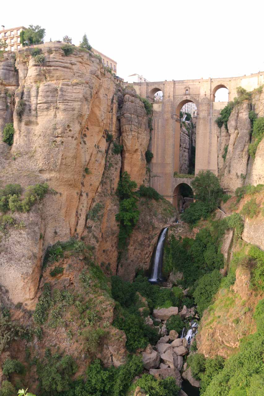 Our first look at the Ronda Waterfall fronting the New Bridge
