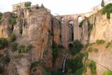 Ronda_048_05232015 - Our first look at the waterfall of Ronda deep beneath the New Bridge spanning the Tajo Gorge