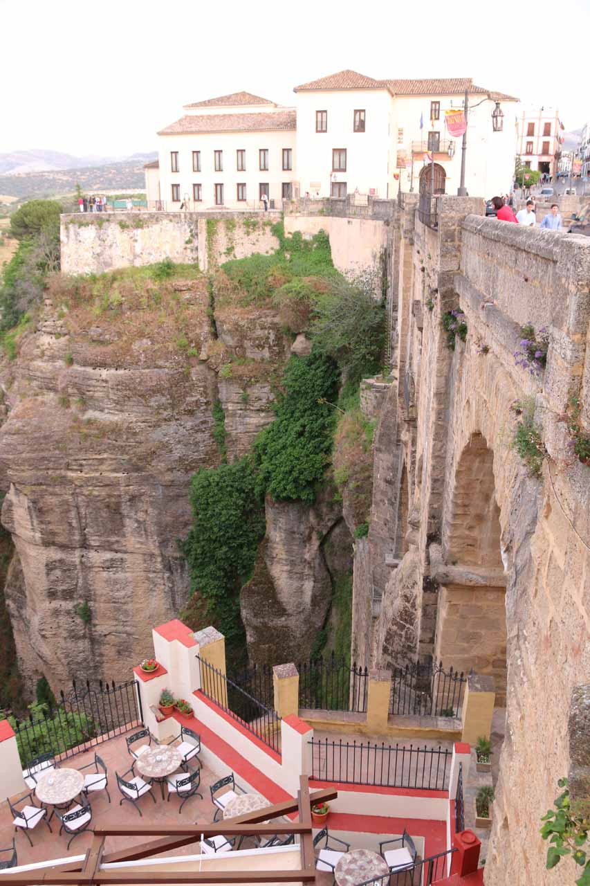 Looking back into the Tajo Gorge from the other side of the Puente Nuevo