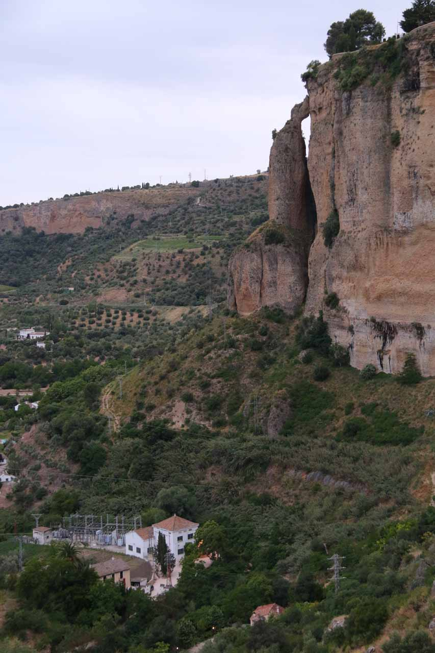 Last look across the Tajo Gorge towards the natural arch on the other side