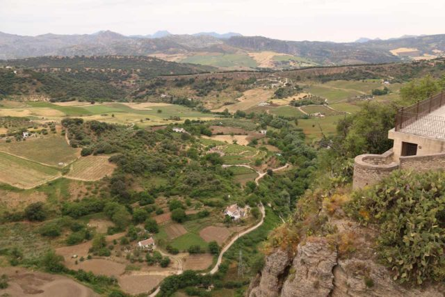 Ronda_243_05232015 - Looking down into the valley from the Puente Nuevo above the Cascada de Ronda