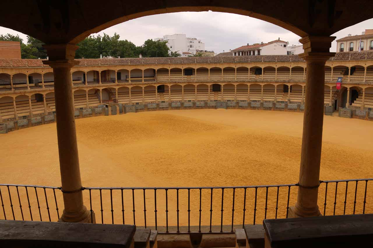 This was the Ronda Bullring, which was said to be the oldest such bullring in Spain
