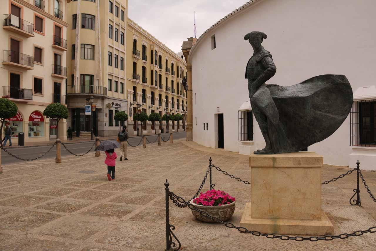 Some matador statues as we were leaving the Ronda bullring
