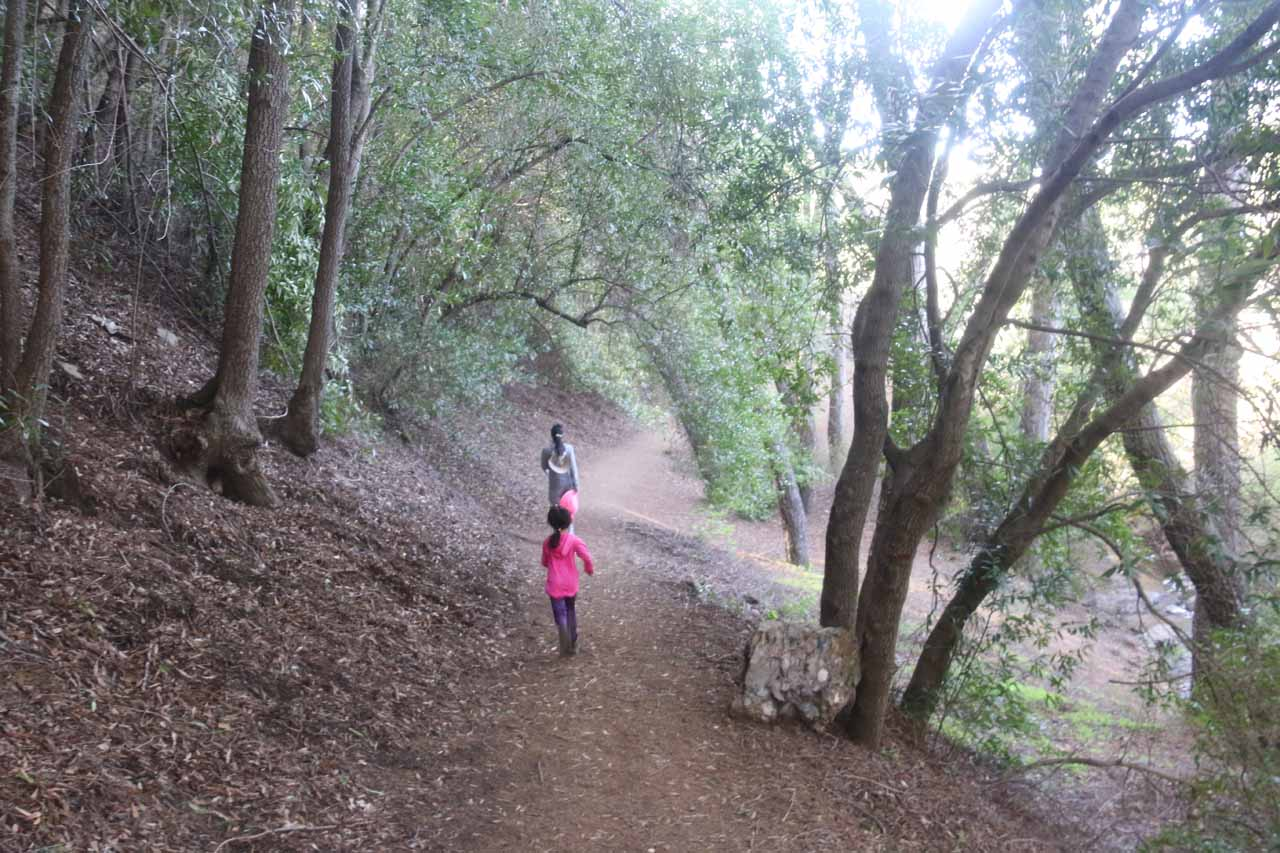 Julie and Tahia continuing to make their way back to the Rose Valley Campground
