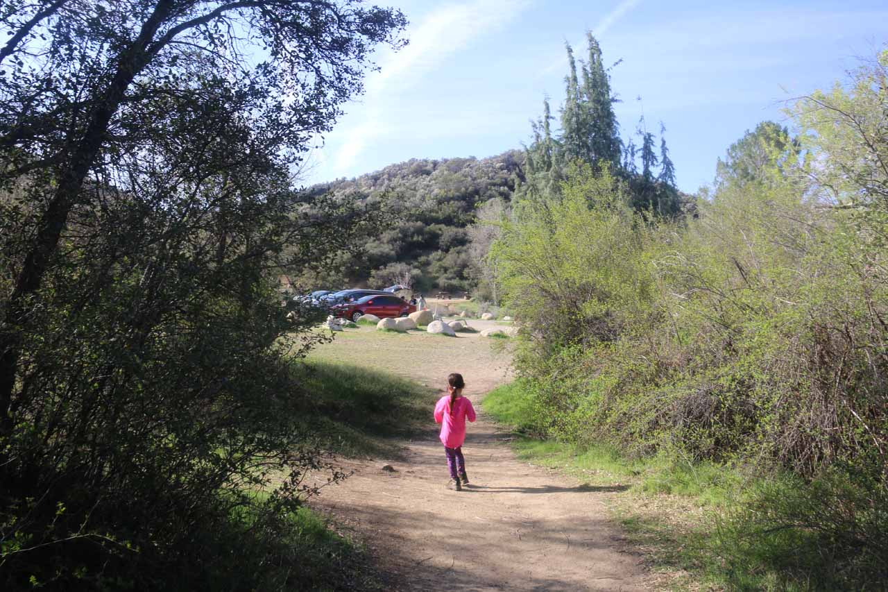 Tahia making it back to the Rose Valley Campground