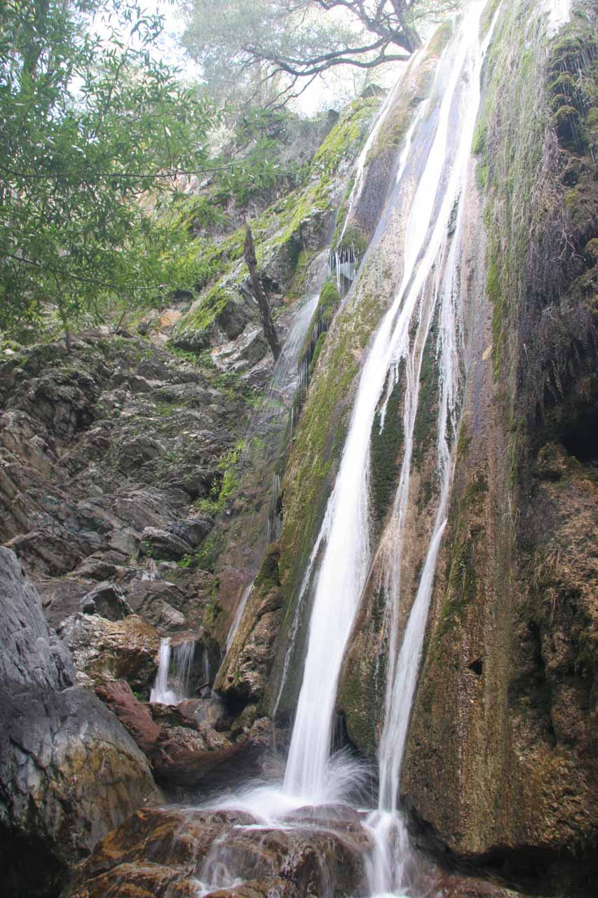 Rose Valley Falls Los Padres National Forest Near Ojai - California waterfalls map