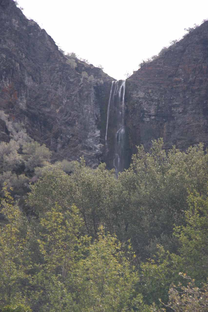 Closer view of the upper falls