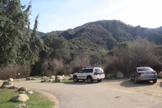 Rose_Valley_Falls_17_002_03192017 - Some of the parking spaces at the Rose Valley Campground near the Rose Valley Falls Trailhead