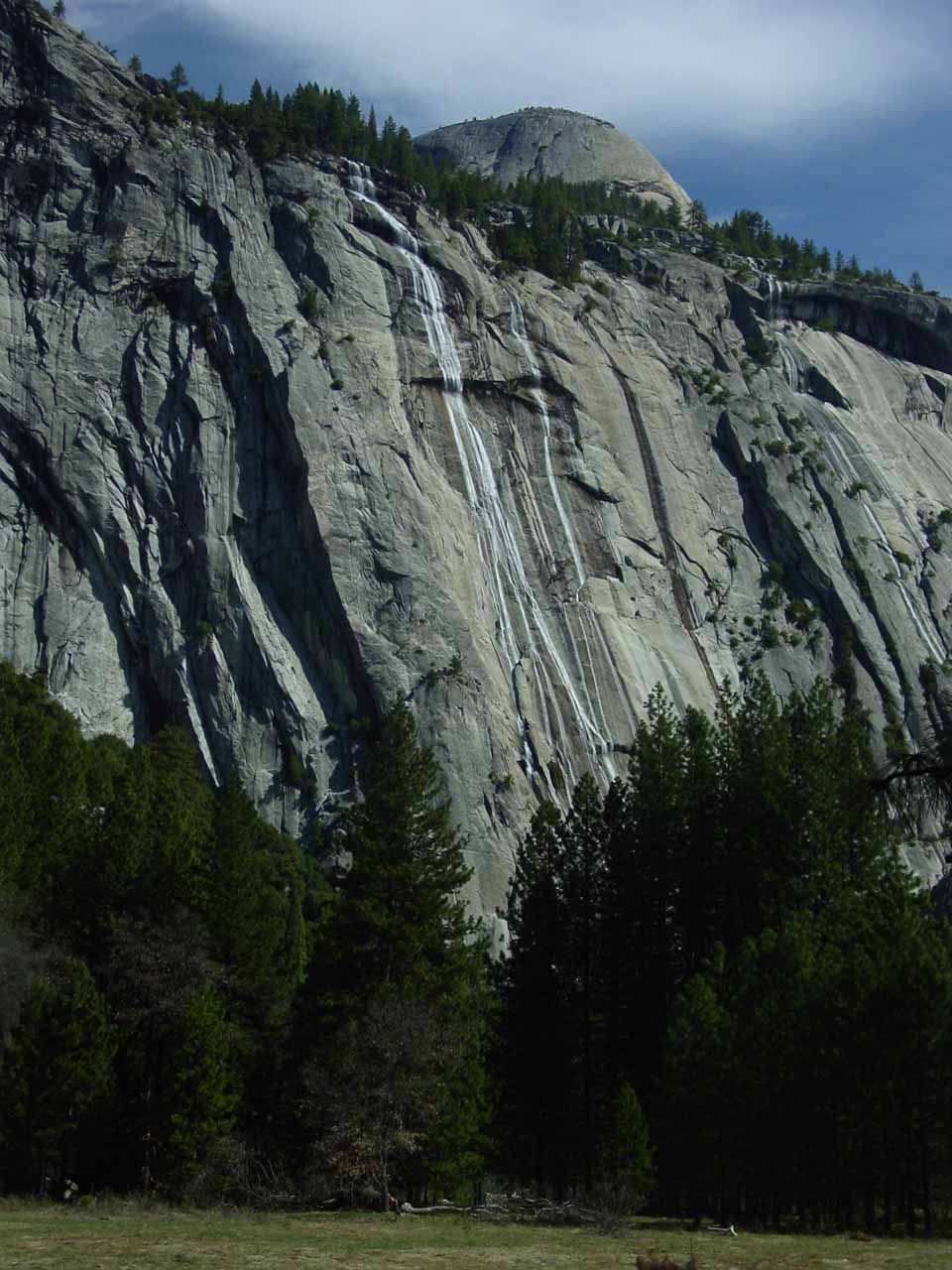 Royal Arch Cascade before North Dome