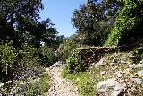 Rubio_Canyon_033_04142020 - Looking back at some kind of foundation on the way to Rubio Canyon Falls during the stream scramble