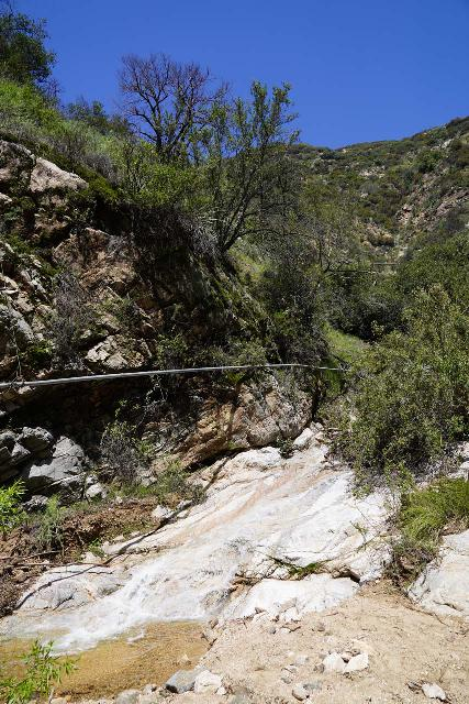 Rubio_Canyon_041_04142020 - A small water slide just downstream from what I thought was the dry Maidenhair Falls and the trail junction with the Camp Huntington Trail