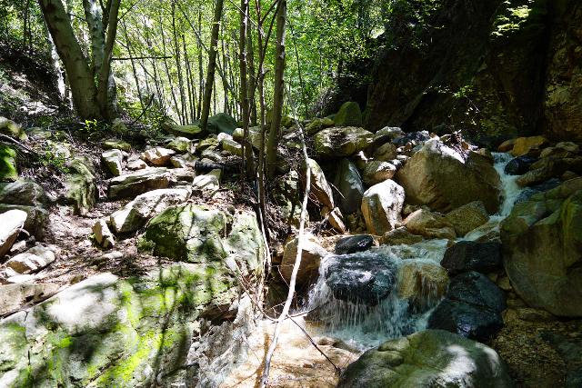 Rubio_Canyon_049_04142020 - Fairly rough stream scrambling past intermediate cascades on the way up to the Rubio Canyon Falls