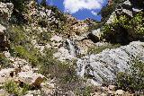 Rubio_Canyon_071_04142020 - Finally approaching the Rubio Canyon Waterfalls of Ribbon Rock Falls (top) and Moss Grotto Falls (bottom)