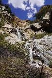 Rubio_Canyon_089_04142020 - Another look up towards the Rubio Canyon Falls with some interesting boulder formation in the background