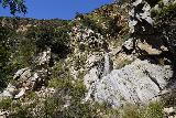 Rubio_Canyon_109_04142020 - Another look back at the lowermost pair of the Rubio Canyon Falls from the gully where I had to scramble up in order to access the remaining Rubio Canyon Waterfalls