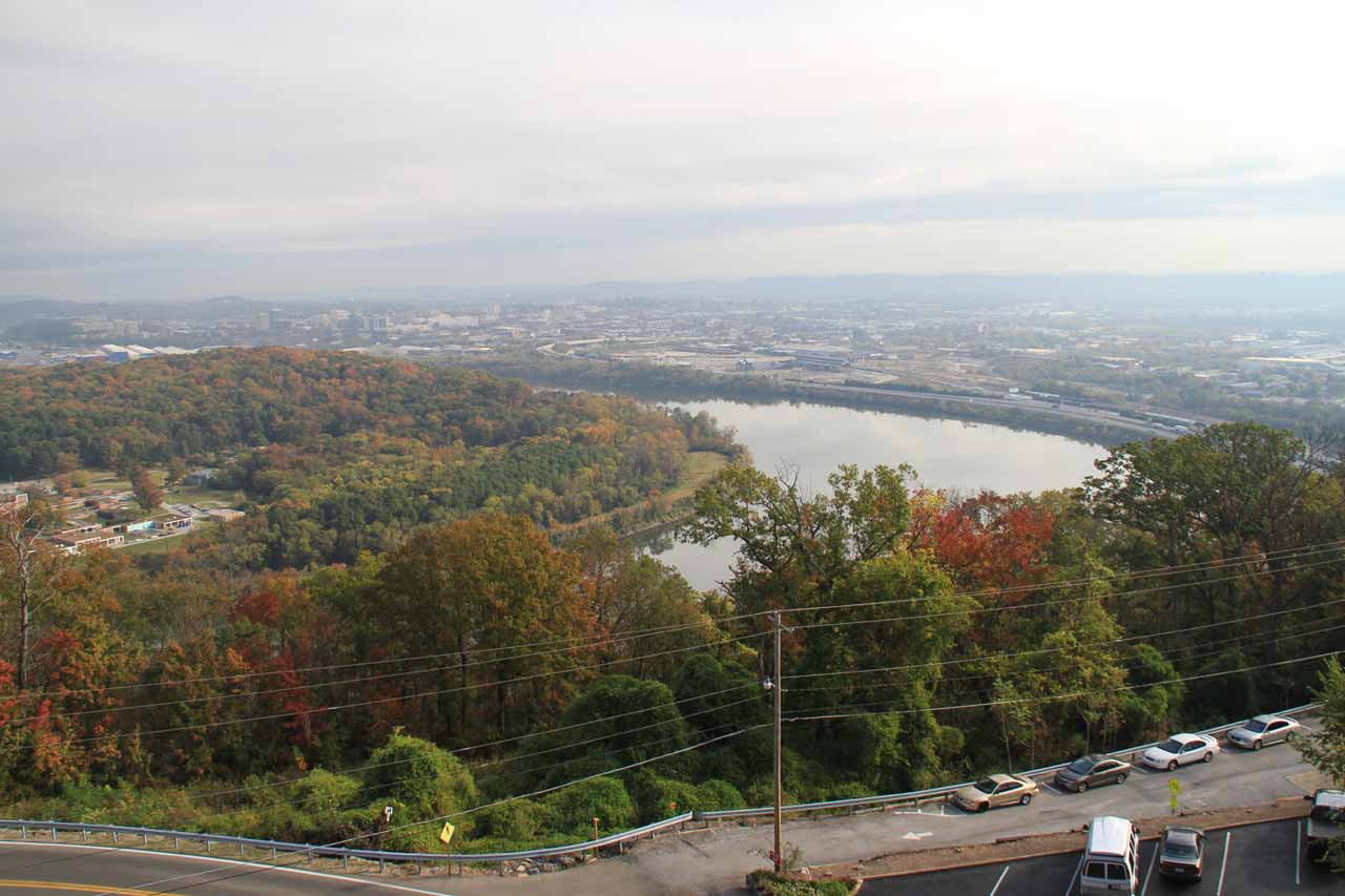 View towards Chattanooga and the Chattanooga River