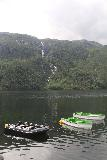 Rullestad_025_06232019 - Looking over some boats on Rullestadvatnet towards Sagfossen