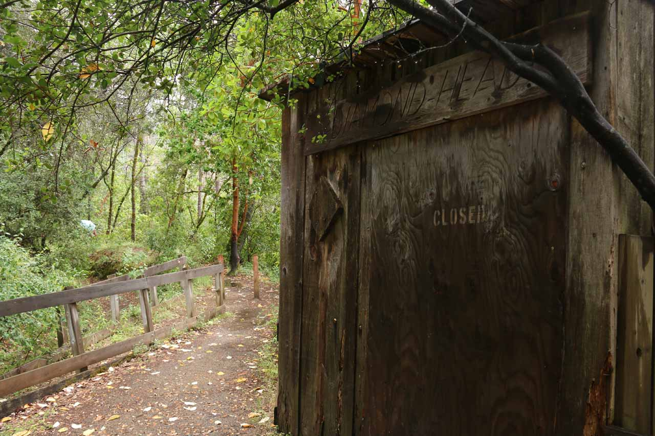 This shack or shed appeared to be one of the mining relics from the California Gold Rush era in the mid 19th Century