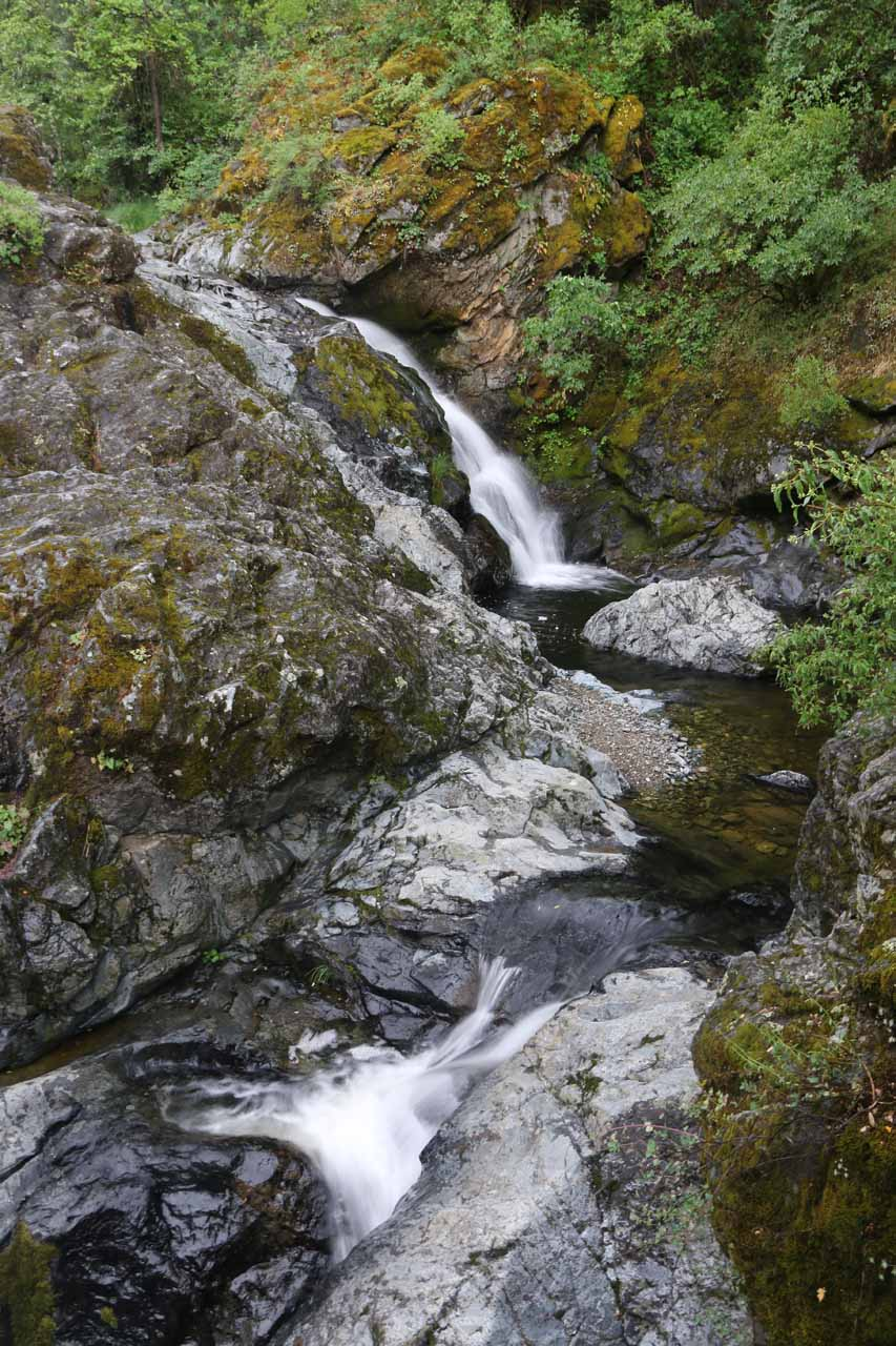 In addition to the upper cascade of Rush Creek Falls, there were more drops further downstream